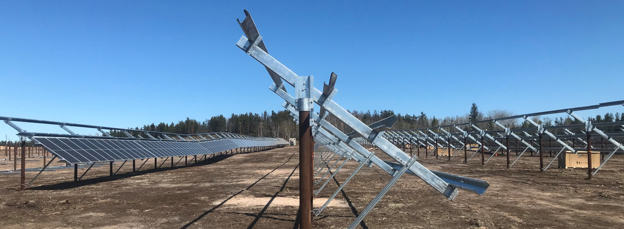 Canadian Polar Racking Supplies Mounting System for Canada's Largest Off Grid Solar Farm
